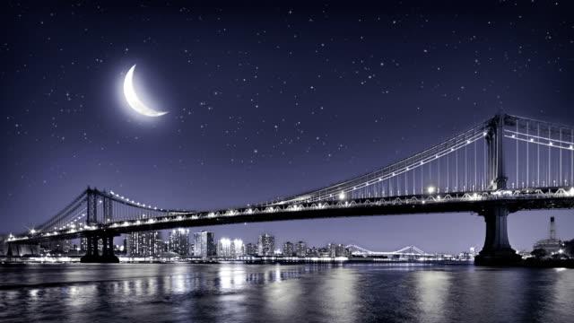ニューヨークのマンハッタン橋 - つり橋点の映像素材/bロール