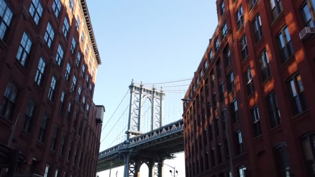 manhattan bridge - manhattan stock videos & royalty-free footage