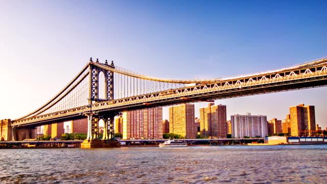 マンハッタン bridge - 運河点の映像素材/bロール