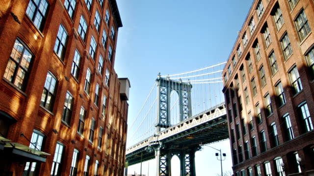 stockvideo's en b-roll-footage met manhattan bridge - majestueus