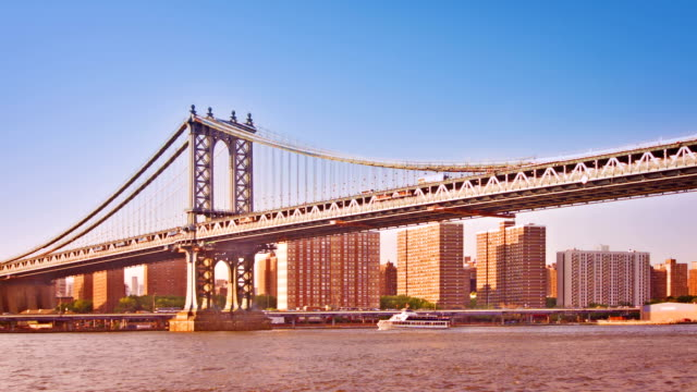 manhattan bridge - hängebrücke stock-videos und b-roll-filmmaterial
