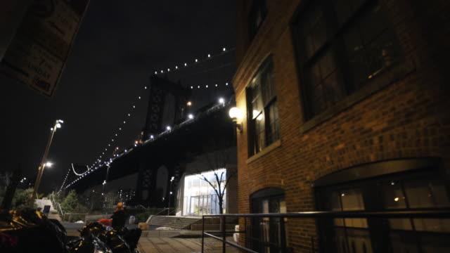 vídeos de stock e filmes b-roll de manhattan bridge - ponte de manhattan