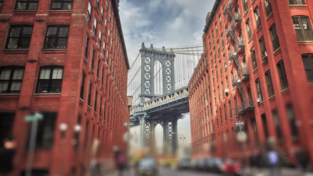 vídeos de stock, filmes e b-roll de ponte de manhattan - brooklyn new york