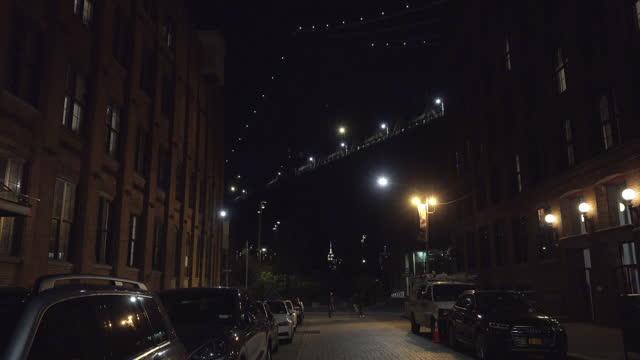 manhattan bridge view from dumbo - brooklyn new york stock videos & royalty-free footage