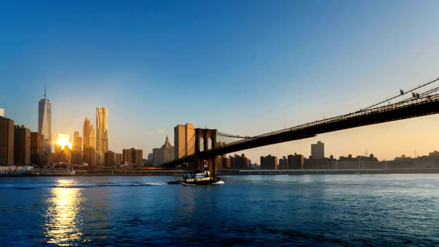 vídeos y material grabado en eventos de stock de manhattan brooklyn bridge - toma panorámica