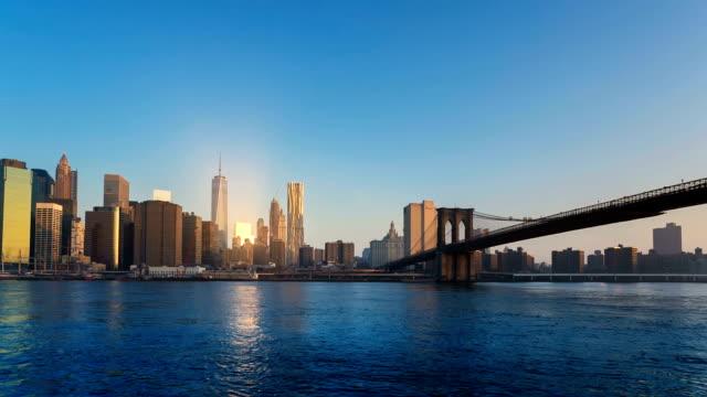 manhattan brooklyn bridge - ブルックリン橋点の映像素材/bロール