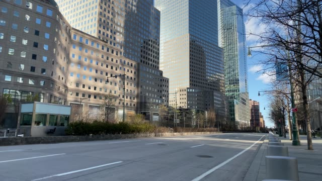 manhattan empty streets - strada vuota video stock e b–roll
