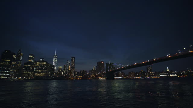 manhattan establishing - night - world trade centre manhattan stock videos and b-roll footage
