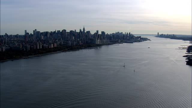 Manhattan From the Hudson At 200Ft - Aerial View - New York,  New York County,  United States