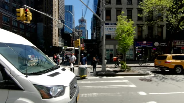 nyc manhattan iii synched series left view driving studio process plate - side view stock videos & royalty-free footage
