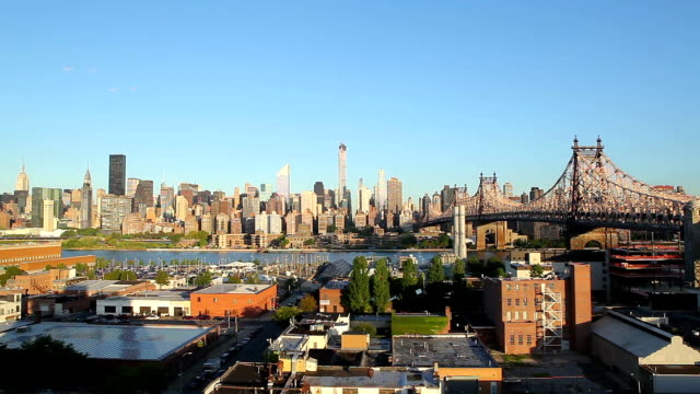 manhattan morning - queens new york city stock videos and b-roll footage