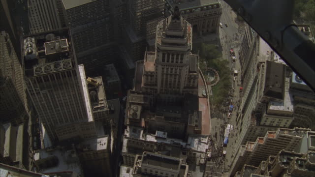 aerial, manhattan, new york city, new york, usa - 1997 stock videos and b-roll footage
