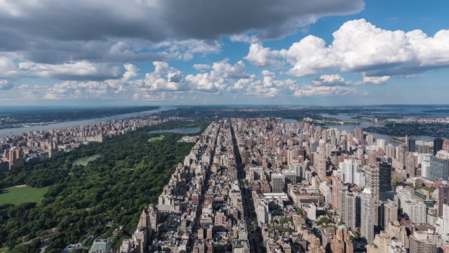 nyc - manhattan north time-lapse 20x speed - central park manhattan stock videos and b-roll footage