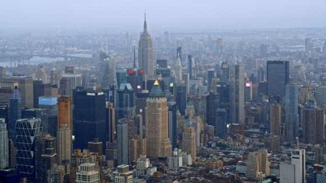 aerial manhattan, nyc - manhattan new york city stock videos & royalty-free footage