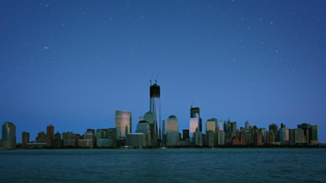 Manhattan skyline at sunrise