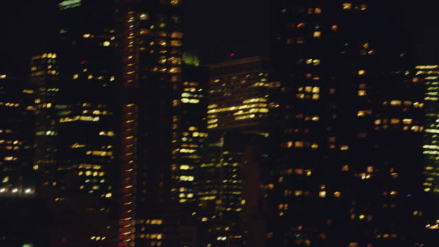 pan manhattan skyline including the chrysler building and the citigroup center / new york, united states - citigroup center manhattan stock videos & royalty-free footage
