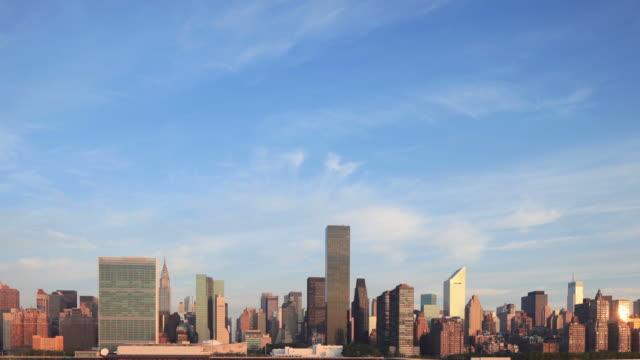 Manhattan Skyline Morning Time Lapse