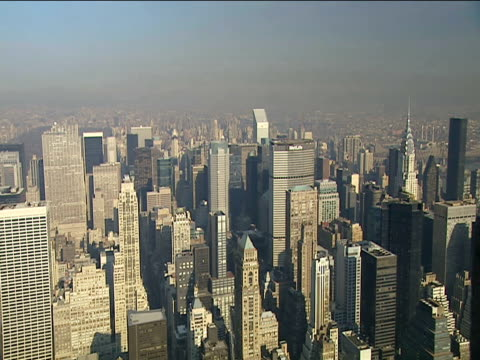 Manhattan skyline seen from observation deck of Empire State Building