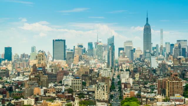 Manhattan skyline, time lapse