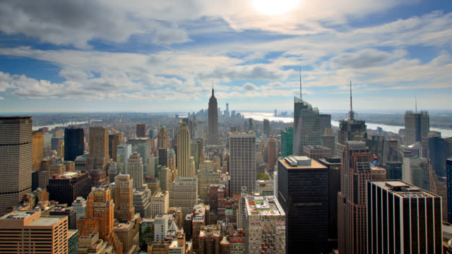 manhattan skyline - manhattan new york city stock videos & royalty-free footage