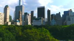 Manhattan skyline with Central park in New York city Aerial