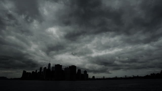 manhattan storm - ominous stock videos & royalty-free footage