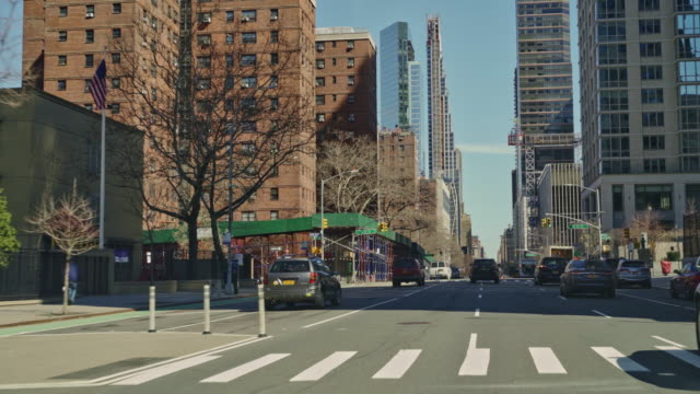 manhattan streets are deserted during the city partial lockdown during the coronavirus outbreak. - cityscape stock videos & royalty-free footage