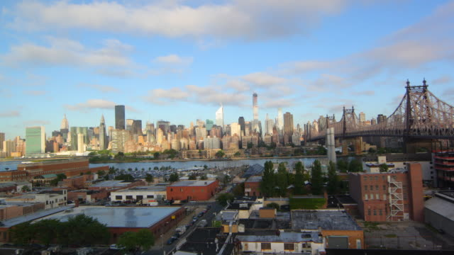 manhattan sunrise - queens new york city stock videos and b-roll footage
