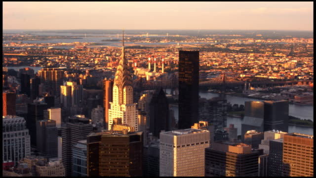 manhattan sunset - general electric building stock videos and b-roll footage