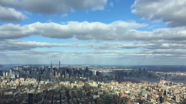 manhattan time lapse aerial view - dappled light stock videos and b-roll footage