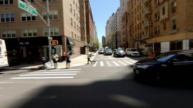 nyc マンハッタン viii シリーズ右サイドドライビングスタジオプロセスプレート - side view点の映像素材/bロール