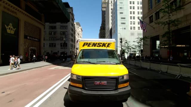 nyc manhattan xix synched series rear view driving studio process plate - fifth avenue stock videos & royalty-free footage