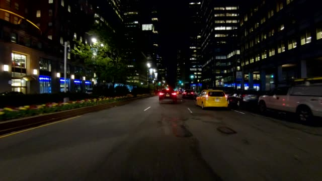 nyc manhattan xvi synced series front view driving studio process plate - grand central station manhattan stock videos & royalty-free footage
