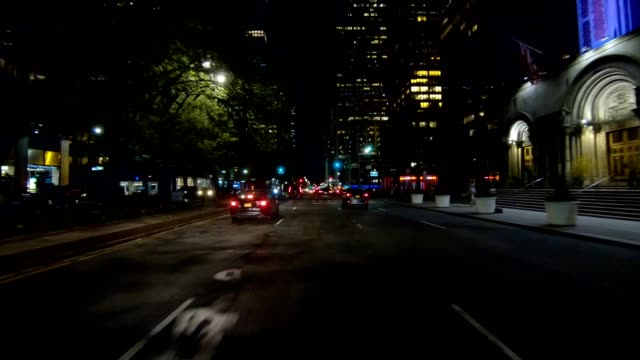 nyc manhattan xvii synced series front view driving studio process plate - part of a series stock videos & royalty-free footage