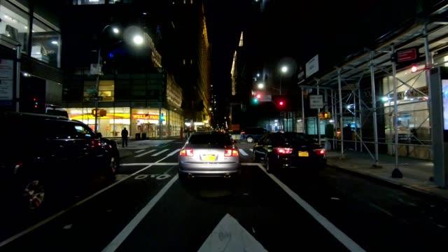 nyc マンハッタン18時同期シリーズフロントビュードライビングスタジオプロセスプレート - part of a series点の映像素材/bロール