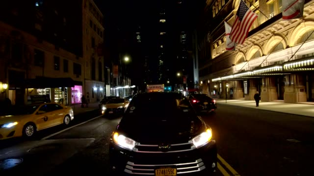 nyc manhattan xx synced series rear view driving studio process plate - plate stock videos & royalty-free footage