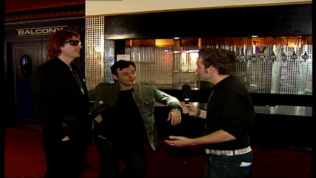 'manic street preachers' tour; james dean bradfield and nicky wire interview sot - on feelings about playing in london - manic street preachers stock videos & royalty-free footage
