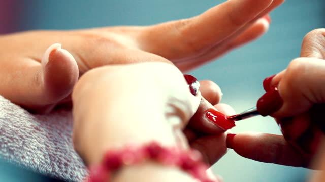 Manicure procedure.