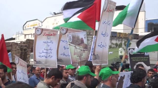 Manifestaciones e intentos por plantar olivos para conmemorar el Dia de la Tierra en los Territorios Palestinos que recuerda la muerte de seis...