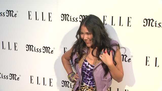 manika at elle magazine and sarah hyland hosts songbirds' miss me album release party on 8/9/12 in los angeles ca - cd発売点の映像素材/bロール