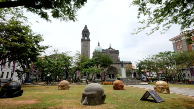 マニラ大聖堂とローマ広場 - フィリピン点の映像素材/bロール