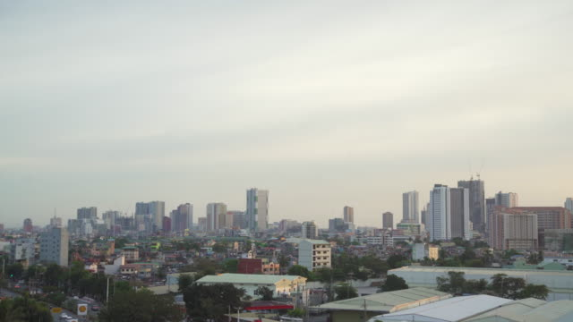 manila city skyline, philippines. copy space - philippines stock videos & royalty-free footage