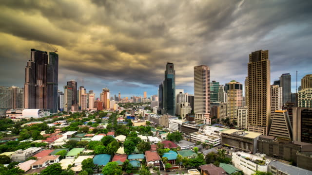 manila cityscape - time lapse - manila philippines stock videos and b-roll footage