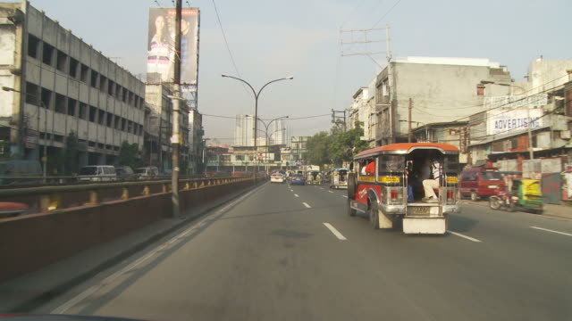 pov of manila downtown traffic - manila philippines stock videos and b-roll footage