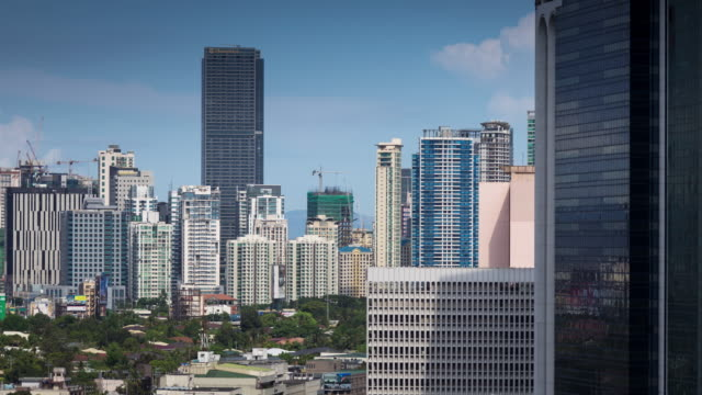 Manila Neighborhood Surrounded by Skyscrapers - Timelapse
