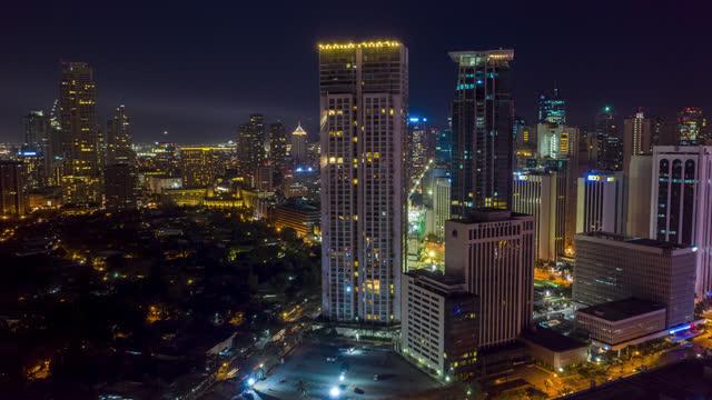 manila philippines makati hyoerlapse aerial shot of - philippines stock videos & royalty-free footage