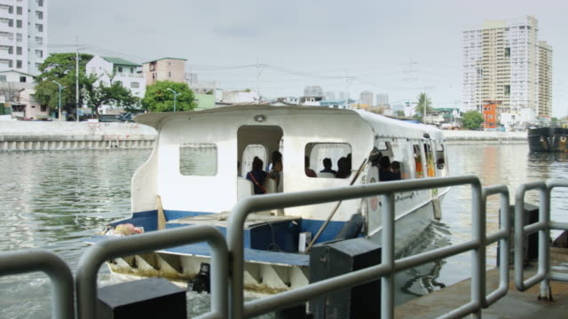 manila river transport - passenger craft stock videos & royalty-free footage