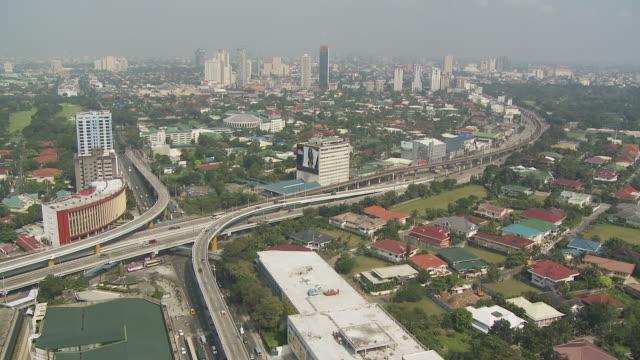 Manila Skyline with highway