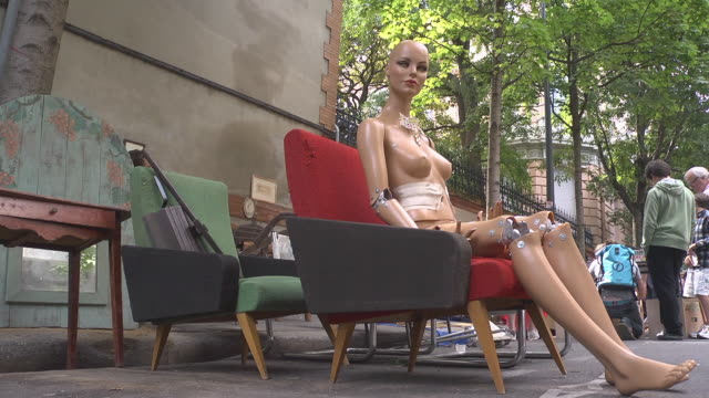 mannequin at flea market