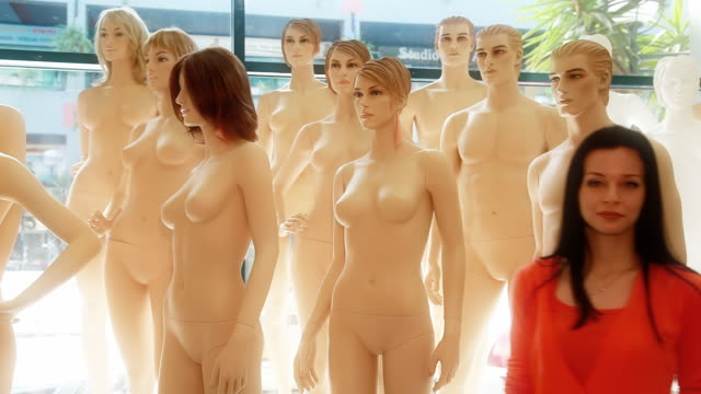 mannequin dummies - female likeness stock videos & royalty-free footage